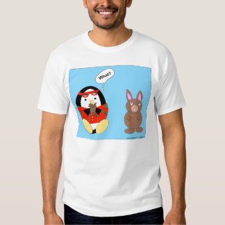 Waddles' Chocolate Easter Bunny T-shirts