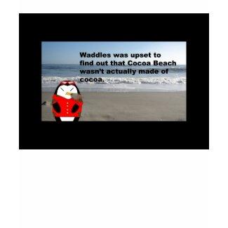 Waddles Cocoa Beach Longsleeve T-shirt zazzle_shirt