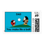 Waddles Dad Makes Life A Ball Stamp