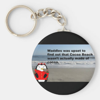 Waddles en el llavero de la playa del cacao
