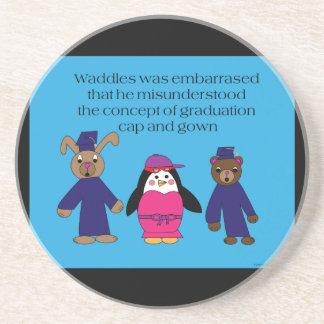 Waddles Graduation Mistake Coaster