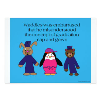 Waddles Graduation Mistake Invitation