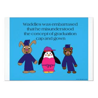 Waddles Graduation Mistake Invitation