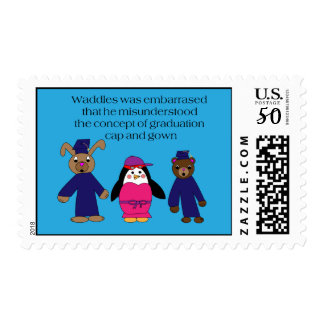 Waddles Graduation Mistake Postage Stamp