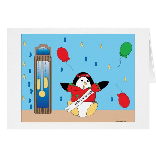 Waddles Happy New Year Card