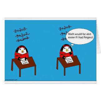 Waddles Hates Math Card