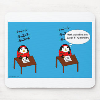 Waddles hates math mousepad