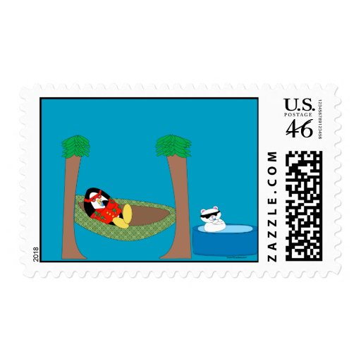 Waddles Just Chillin' Postage Stamp