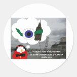 Waddles London Eye Classic Round Sticker
