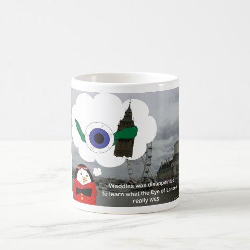 Waddles London Eye Classic White Coffee Mug