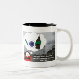 Waddles London Eye Coffee Cup Two-Tone Coffee Mug