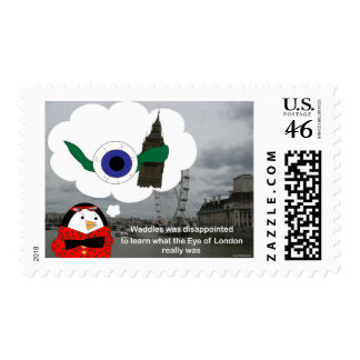 Waddles London Eye Postage Stamps