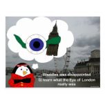 Waddles London Eye Postcard