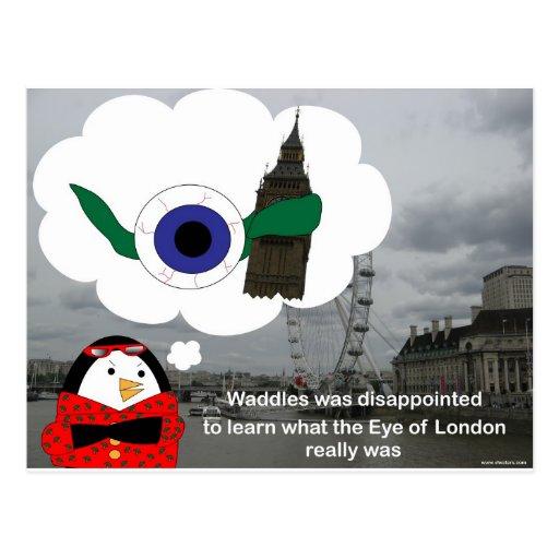 Waddles London Eye Postcards