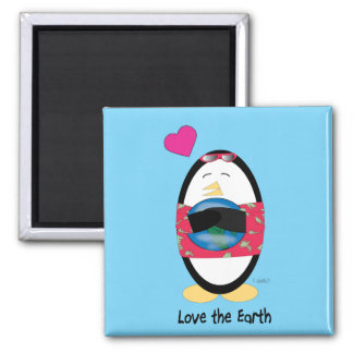 Waddles Loves the Earth Magnet