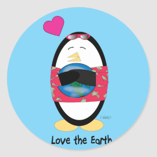 Waddles Loves the Earth Stickers