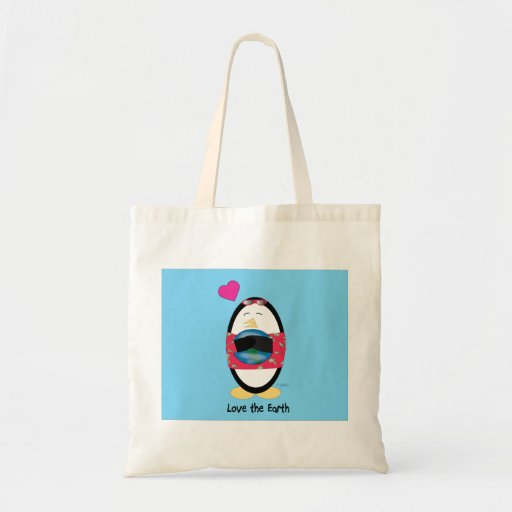 Waddles Loves the Earth Tote Bag