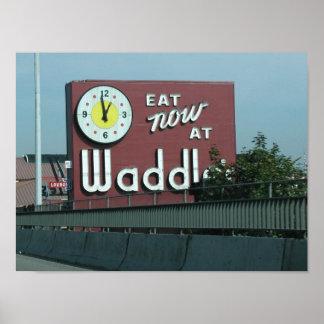 Waddles Restaurant Portland Oregon Poster