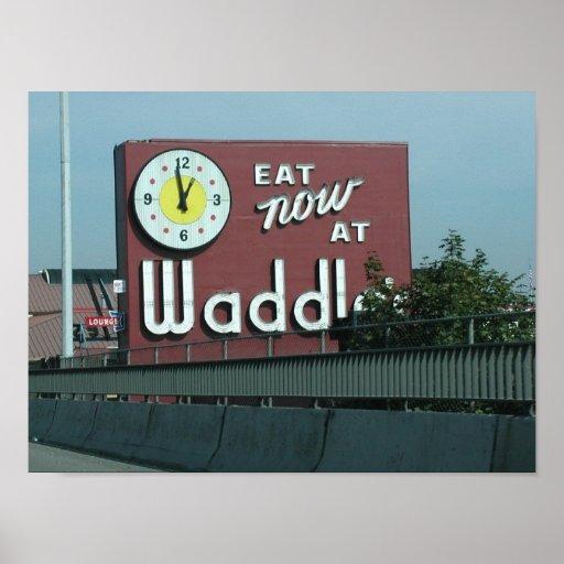 Waddles restaurant portland oregon poster zazzle
