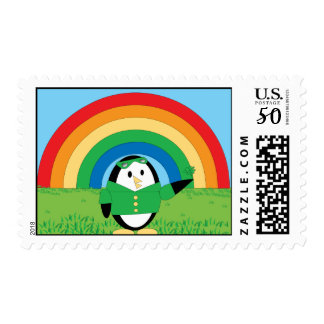 Waddles St. Patrick's Day Postge Stamp
