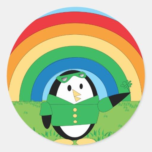 Waddles St. Patrick's Day Sticker