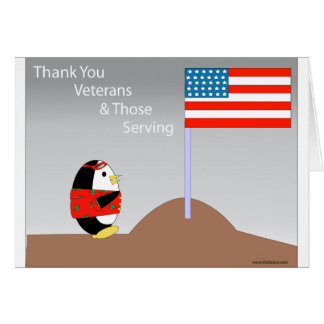 Waddles thanks veterans card