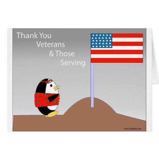 Waddles thanks veterans card