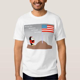 Waddles Thanks Veterans T-shirt