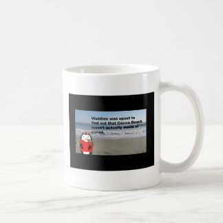 Waddles the Penguin at Cocoa Beach, Florida Classic White Coffee Mug