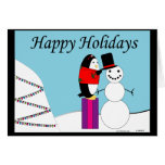 Waddles the Penguin Happy Holiday Greeting Card
