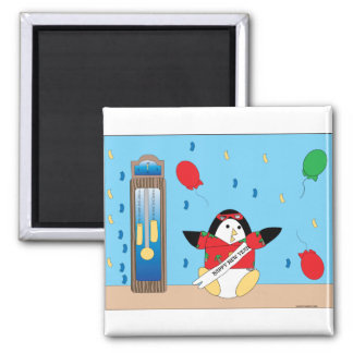 Waddles the Penguin Happy New Year Magnet