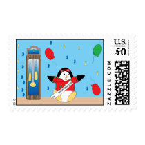 Waddles the Penguin Happy New Years Postage Stamp