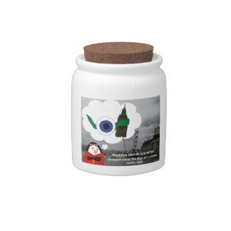 Waddles the Penguin London Eye Candy Jar