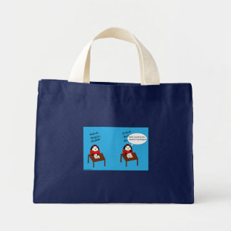 Waddles the Penguin Math Tote Bag