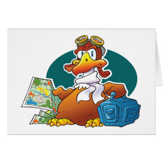 Waddling Eagle Greeting Card