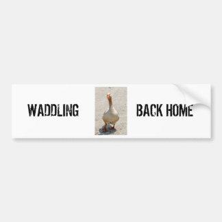 Waddling Goose Bumper Sticker