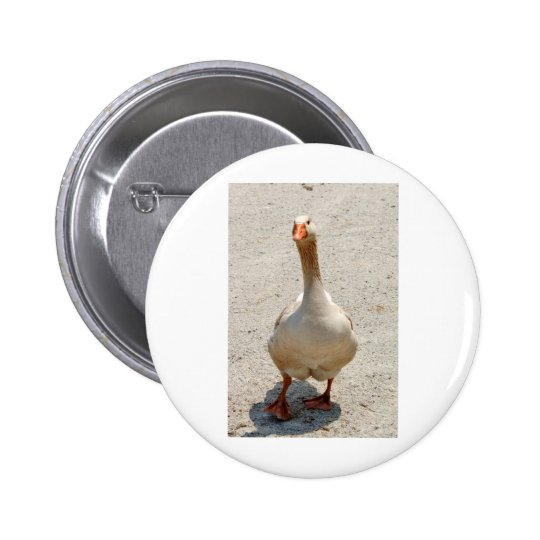 Waddling Goose Button Badge