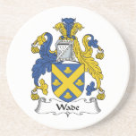 Wade Family Crest Drink Coaster