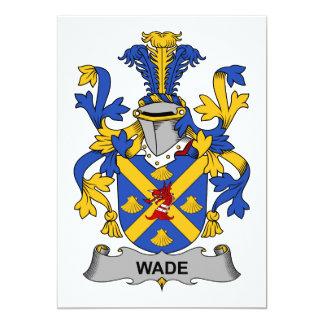 "Wade Family Crest 5"" X 7"" Invitation Card"