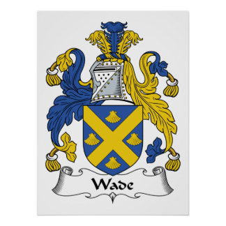 Wade Family Crest Poster