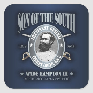 Wade Hampton III (SOTS2) silver Square Sticker