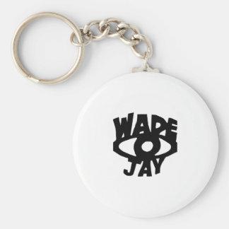 Wade Jay Basic Round Button Keychain