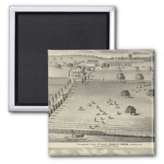 Wade ranch, Weller residence 2 Inch Square Magnet