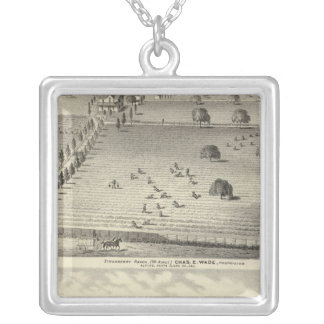 Wade ranch, Weller residence Silver Plated Necklace