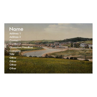 Wadebridge from south, Cornwall, England classic P Business Card