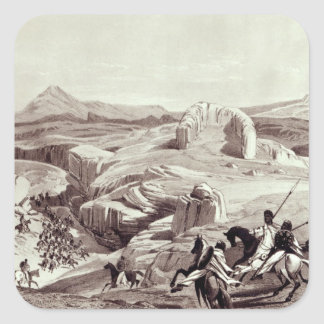 Wadela Plateau , engraved by J.Ferguson Square Stickers