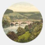 Wade's Bridge, Aberfeldy, Scotland Round Sticker