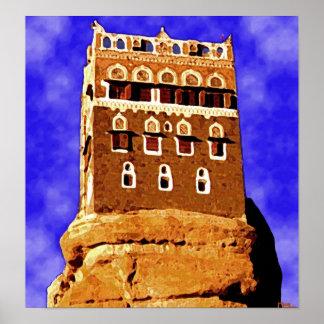 WADI DAHR yemen (not far from sanaa) Poster