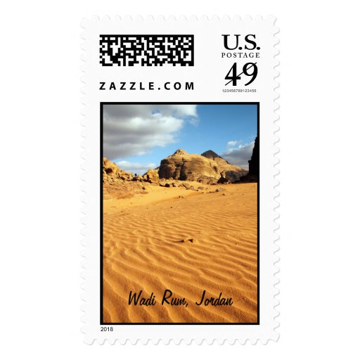 Wadi rum desert pos-meets postage stamps