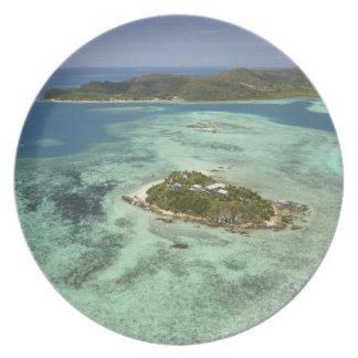 Wadigi Island, Mamanuca Islands, Fiji Melamine Plate